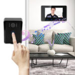 New 7 Inch Intercom Monitor Video Doorbell LED Security Camera System Waterproof Color