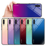 New Bakeey Gradient Tempered Glass Protective Case For Samsung Galaxy A50 2019 Scratch Resistant Back Cover