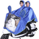New Waterproof Double Person Poncho Raincoat Rain Coat Motorcycle Scooter Rain Cape