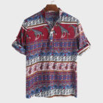 New Mens Ethnic Style Printed Half Sleeve Loose Casual T Shirts