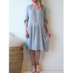 New Pure Color Adjustable Sleeve Pocket Dress