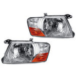New Car Headlight Head Lamp Shell Cover Pair for Mitsubishi Pajero Montero 2000-2006