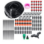 New DIY 15M Micro Drip Irrigation System Water Drip Irrigation DIY Kit for Flower Beds Vegetable Gardens
