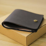 New Men Genuine Leather Mini Thin Wallet