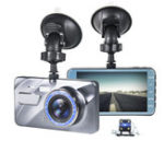 New 4 Inch 1080P Car DVR Dash Cam Video Recorder Front + Rear Camera Dual Lens LCD