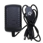 New 1.5M 2M AC110-240V To DC12V 2A 24W Power Adapter with Touch Dimmer Switch US Plug for LED Strip Light