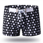 New Printing Drawstring Water Repellent Swimming Trunks