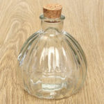 New Mini Glass Pumpkin Wishing Bottles Empty Wishing Jars Containers with Cork Top Decorations Gift