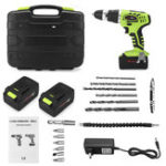 New LCD Electricity Display Cordless Electric Screwdriver 1000mAh Li-ion Battery Multifunction Lithium Power Drills Screw Driver With Accessories