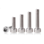 New Suleve™ M4SH5 50Pcs M4 304 Stainless Steel 10-20mm Hex Socket Cap Head Screw Bolts Nut Optional Length