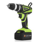 "New 21V 2-Speed Electric Cordless Drill Multi-function 3/8"" Screwdriver 1500mAh Li-Ion Batteries Power Hand Tool"