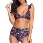 New Side Hollow Printed Beach Bikini For Women
