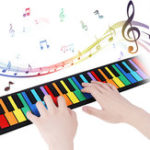 New iword S2037 37 Keys 8 Tones Hand Roll Up Piano for Kids Musical Imstrument