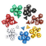 New 7 Set 49Pcs Polyhedral TRPG Game Dungeons And Dragons Dice DnD RPG With Bag