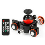 New Lensgo L8X Slider Dolly Photography Electronic Car with Remote Control Ball Head Phone Clip