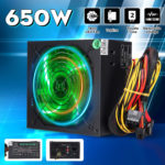 New 650W PC Computer Power Supply Module Unit 24Pin SATA Quiet Green LED Cooling Fan 14cm