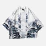 New Mens Chinese Style Kimono Cloak Coats Pattern Cardigans