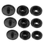 New 1000PCS T3/T5/T8 Black Resin Fasteners Clip Snap Buttons For Cloth Diaper Craft