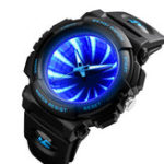 New SKEMI 1521 Creative Dial LED Backlight Men Quartz Watch