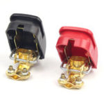New FOXSUR Red and Black Pure Copper Car Battery Terminal Block Clip