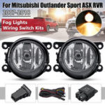 New Car Front Bumper Fog Lights with H11 Lamps Harness Pair for Mitsubishi Outlander Sport/RVR/ASX