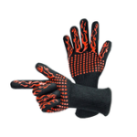New 1 Pair 932°F Heat Resistant Barbecue BBQ Grill Gloves Oven Baking Cooking Glove For Men Women