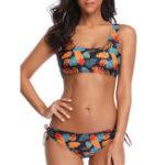 New Ladies Vest Tights Split Halter Bikini