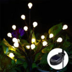 New Solar Powered Round Ball Tree Branch Outdoor Waterproof LED String Holiday Light for Patio Decor