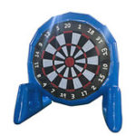 New 3m High Popular Game Giant Inflatable Soccer Foot Dart Board With Air Blower