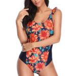 New One-Pieces Print Ladies Swimwear