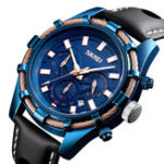 New SKMEI 9189 Sports Luxury Leather Strap Men Quartz Watch