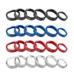 New 6Pcs Air Conditioner & Audio Switch Knob Car Decorative Ring Cover Trim For Ford F150 16-18