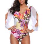 New Long-Sleeved One-Piece Chiffon Printing Swimwear