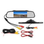 New 4.3 Inch Waterproof Backup Camera Mirror Car DVR Rear View Reverse Night Vision Parking System Kit