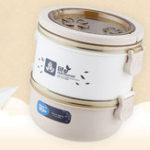 New QICAR Lunch Box Thermal Stainless Steel Food Storage Container Leakproof Eco-friendly Bento Box