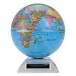 New Solar Automatic Rotating Globe Decorative Desktop Earth Geography World Globe Base World Map Education Gift w/ Base