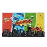 New 5x7FT 9x6FT Vinyl Superhero Cartoon City Boom Pooow Photography Backdrop Background Studio Prop