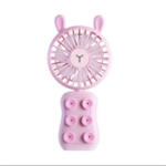 New Well Star WT-9101 Little Bear/Rabbit Mini USB Fan Phone Holder with Colorful Light Mode Six silicone suction cups Handheld Small Fan Portable Air Cooler For Home Office Outdoors