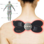 New 5V Electric Shoulder Back Neck Massager 9 Modes Low-frequency Pluse Muscle Relaxation Stimulator