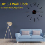 New DIY 3D Roman Numbers Watch Wall Clock Home Decor Mirror Wall Sticker 4 Colors