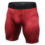 New Mens 3D Printed Elastic Fast Dry Fitness Training Shorts
