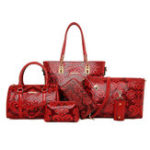 New Women 6 PCS Reteo Vintage Embossed Ethnic Style Bags