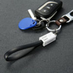 New FLOVEME 20cm Keychain Fast Charging Micro USB Data Cable for Samsung Xiaomi Huawei