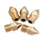 New 5PCS 3mm/0.4mm Copper MK8 Thread Extruder Nozzle For 3D Printer