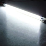New 10pcs LUSTREON Pure White High Power 10W COB LED Chip Light DC12-14V for DIY 200x10MM Lamp