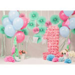 New 5x7FT Vinyl Balloon One Year Old Party Photography Backdrop Background Studio Prop