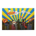 New 5x7FT 9x6FT Vinyl Cartoon City Bang Booom Photography Backdrop Background Studio Prop