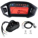 New Universal Motorcycle LCD Digital Speedometer Tachometer Odometer Backlight Gauge