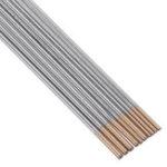 New 10Pcs WL15 150mm Length TIG Welding Tungsten Electrodes 1.0/1.6mm Golden Tip Rods Set