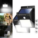New 40 LED Solar Power Light PIR Motion Sensor Security Outdoor Garden Waterproof Wall Lamp